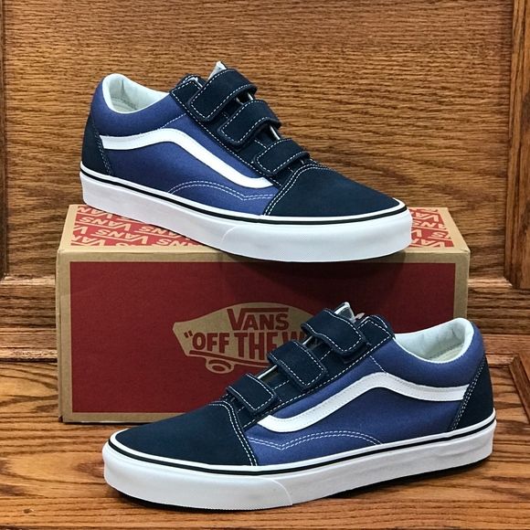 Vans Old Skool V Suede Canvas Blue True Navy Shoes NWT